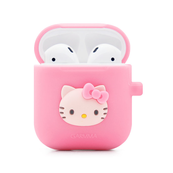 西语意阁家居Airpods保護套Hello Kitty蘋果無線耳機套Line Friends盒子套藍牙耳機airpod 2代套布朗熊硅膠殼防丟繩耳機塞