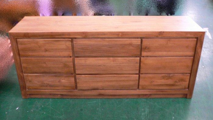 樂居二手家具 台中全新中古傢俱*TK110全新柚木兩門三抽實木矮櫃*收納櫃 置物櫃 柚木收納櫃 全新柚木矮櫃 電視櫃