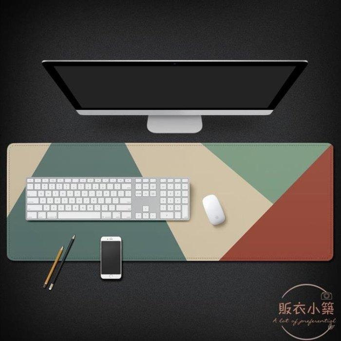 超大鎖邊創意插畫游戲滑鼠墊加厚簡潔大號筆記本電腦辦公桌墊 店家有好貨
