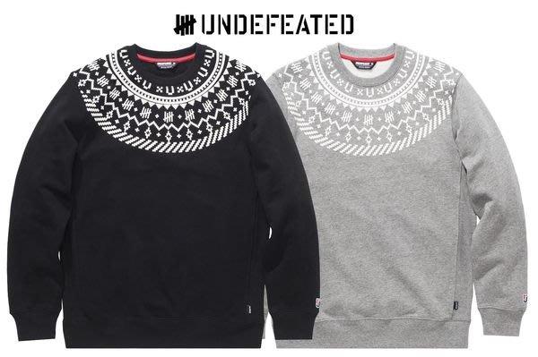【 超搶手】全新正品 2013 冬季 UNDEFEATED TRAVERSE CREW 雪花 大學服 厚T 灰色 S