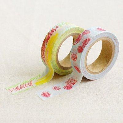 ❅PAVEE❅ 韓國DailyLike~ Masking Tape 優雅和風 裝飾紙膠帶(2入)~Childlike