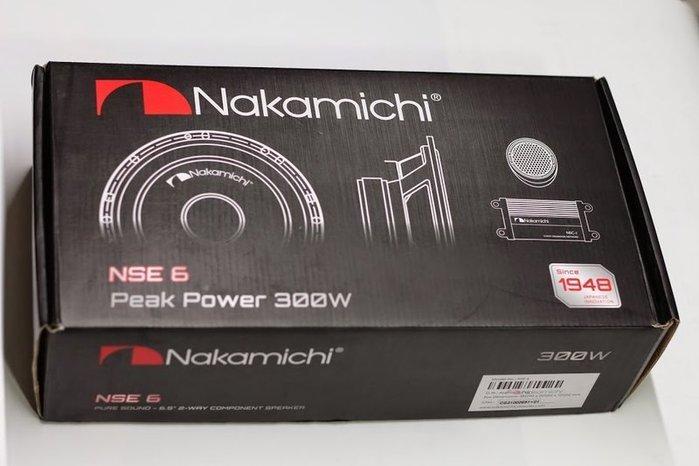 """【全昇汽車音響】日本中道NAKAMICHI NSE6 6.5"""" 2音路分離式汽車音響喇叭"""