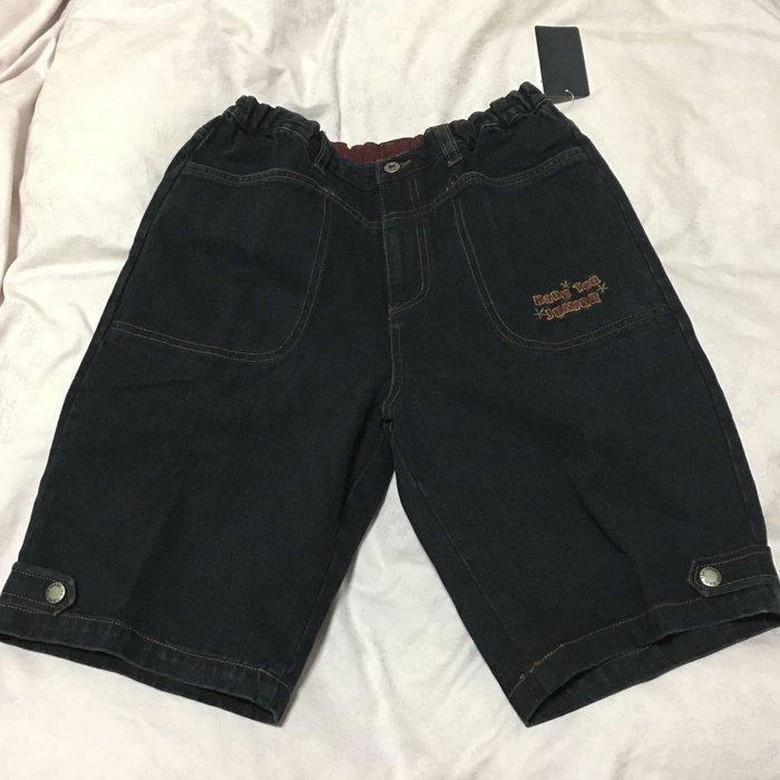 全新Hang Ten男童黑色牛仔褲 大童五分褲 六分褲140-155cm