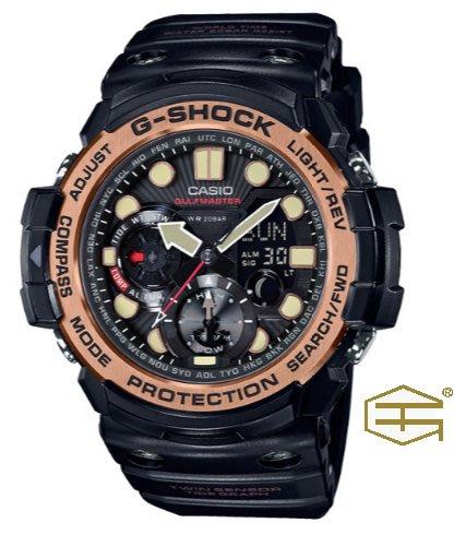 【天龜】CASIO G SHOCK 強悍機能 數位羅盤雙顯錶 GN-1000RG-1A