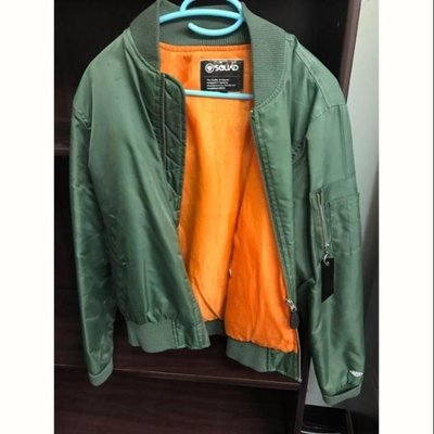 SQUAD 軍綠色飛行外套 夾克 S