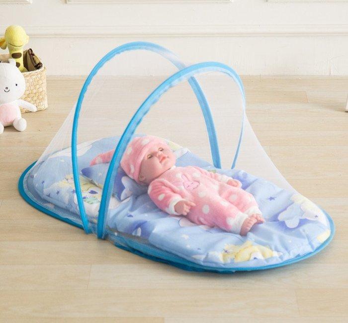 嬰兒床蚊帳寶寶兒童蚊帳罩通用小孩新生兒底支架可摺疊