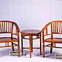 【設計私生活】柚木實木房間桌椅組、洽談桌...