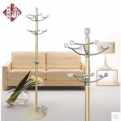 【優上】旋轉鋁合金衣帽架臥室金屬落地室內衣服架白色掛衣架「金色」