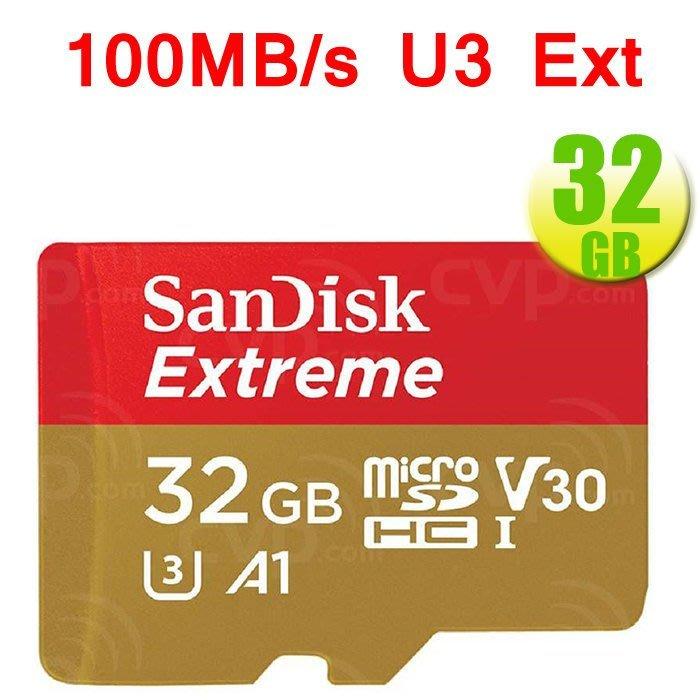 SanDisk 32GB 32G microSDHC【100MB/s Extreme】microSD 記憶卡 4K