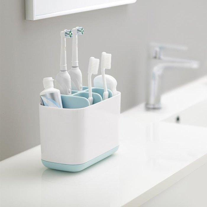 浴室洗漱收納盒台面置物架衛生間牙刷盒電動牙刷筒牙膏套裝收納架