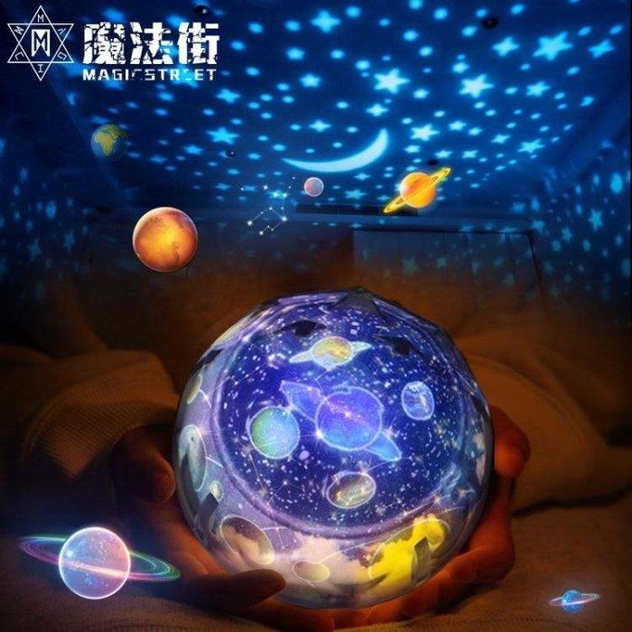 小夜燈浪漫投影插電臥室臺燈創意夢幻嬰兒睡眠月球燈床頭燈