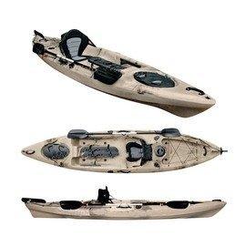【多功能帶舵單人皮划艇-L007-全配-395*85*38cm-1套/組】艇+坐墊+槳+衣需預定+海運-7682035