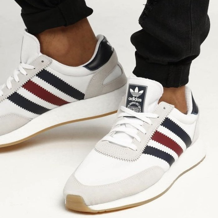 Washoes adidas I-5923 INIKI Runner 白灰 藍 紅 BD7813 膠底 慢跑鞋 男鞋05