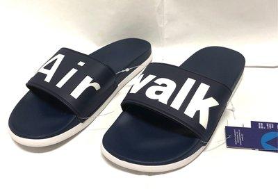 原價620元美國品牌~ 輕量 AIR WALK  全新公司貨 AIRWALK 防水PU 軟底拖鞋5-11號 深藍