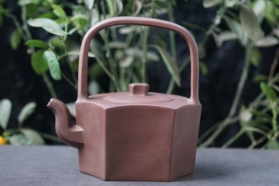 【敦敦壺】-【時大彬製】提樑壺 1180cc紫砂茶壺(T1225)