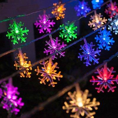 雪花聖誕燈串10公尺/米100燈條 可...