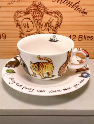 Paul Cardew設計的貓咪咖啡杯(日本進口):Paul Cardew設計 貓咪 咖啡杯 餐具 收藏 瓷器 禮品
