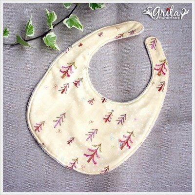 ♥grita's handmade♥純棉手作嬰幼兒圍兜兜/領巾/口水巾/三角巾/彌月禮—森林