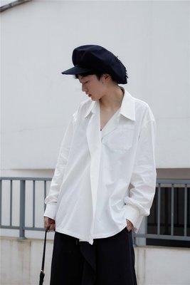 Dark.Q Von 中性款寬鬆長袖襯衫黑白2色