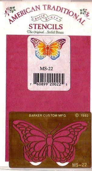 陽光一品DIY卡片印章專賣店~~ 銅片特賣-蝴蝶--##MS-22##~~美國製絕版品