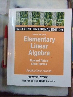 A6☆『Eiementary Linear Algebra Applications Version』《Wiley》
