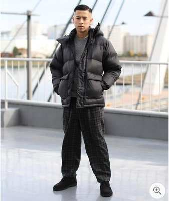【傑森精品】日本潮牌 BEAMS 復古風格 厚實 輕量 保暖 防潑水 全尼龍 90%絨 寬鬆 連帽 羽絨外套