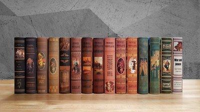 【現貨】復古風格 工業風 英文 【一本$55隨機出貨】仿真書 道具書 書 假書 樣品屋 裝飾品 書櫃 樣品書  裝飾書