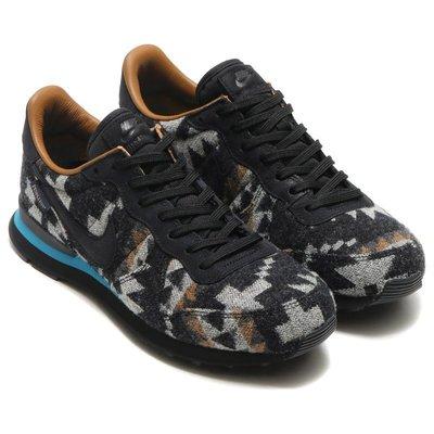 =CodE= NIKE INTERNATIONALIST PND QS 羊毛復古慢跑鞋(黑) 828042-004 男