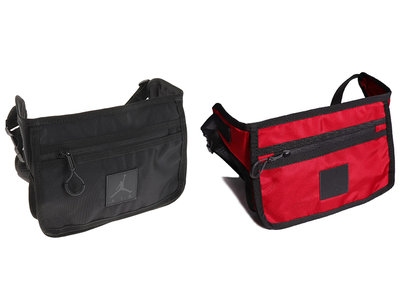 JORDAN Collaborator Bag 腰包 側背包 黑色 紅色 兩款# 9A0331-