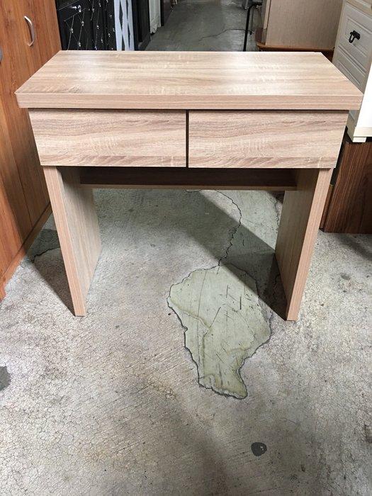 大台北冠均二手貨中心(全省收購 五股店) 二手家具--**全新**簡約2抽橡木色書桌 電腦桌D-073102