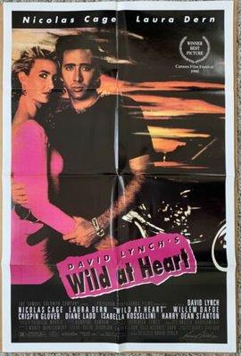 我心狂野 (Wild at Heart)- 大衛林區 David Lynch、尼可拉斯凱吉 -1990年美國原版電影海報