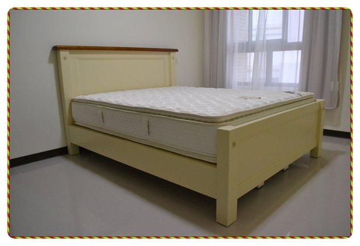 實木雙色白色花朵5*6.2標準床架雙人床台 英式鄉村風另有床頭櫃衣櫃鞋櫃展示櫃鞋櫃加大床架現代簡約風做工細緻【歐舍家飾】
