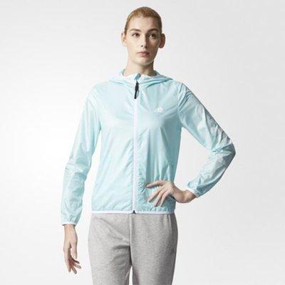 Look 鹿客 adidas ESSENTIALS 女  輕薄連帽風衣外套 BK5093