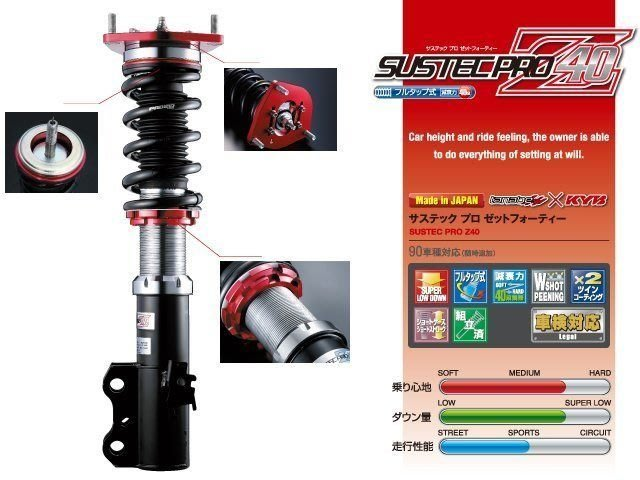 日本 Tanabe SUSTEC PRO Z40 避震器 Nissan Tiida 2007+ 專用