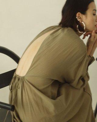 【預購】日本連線TODAYFUL春夏20新入荷Gauze Gather Dress高質感優雅露背棉麻長洋裝連身裙連衣裙*