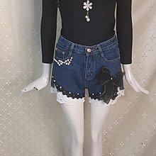 M484 精品服飾 黑色 拼接花朵蕾絲假二件上衣特賣100