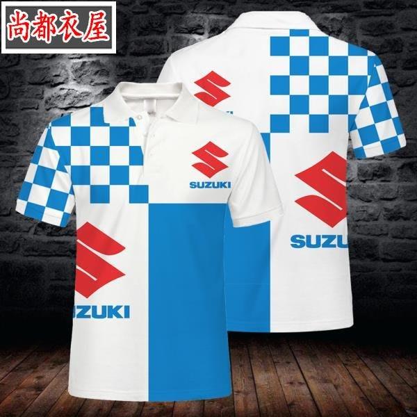 【尚都衣屋】 夏3D數碼印花suzuki鈴木車標Polo衫短袖 philadephia