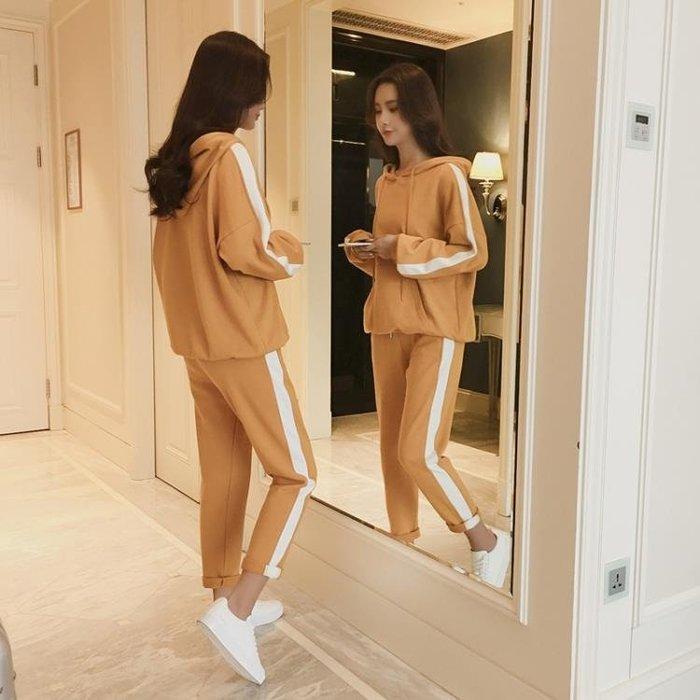 高中初中學生休閒運動服寬鬆套裝女2018秋季裝新款韓版女版兩件套