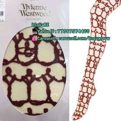 (現貨) 購自日本 Vivienne Westwood 紅色鎖鏈 網紋 土星 LOGO 絲襪 (保証正貨及全新) 可以平郵$5
