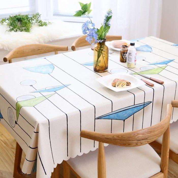 桌布 桌布防水防油防燙免洗餐桌布ins棉麻布藝風格小清新歐式pvc茶幾布「稻菏館」
