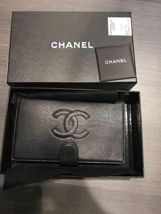 Chanel 荔枝紋皮夾(正品)