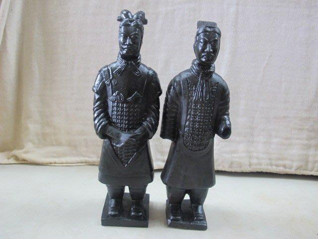 二手舖 NO.1393 早期兵馬俑 擺飾收藏 2尊/組