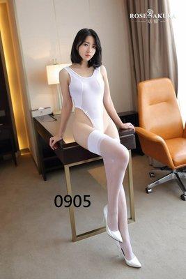 性感睡衣 白色大腿襪長襪絲襪 吊襪帶 角色扮演 四色0905