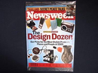 【懶得出門二手書】英文雜誌《Newsweek2005.05.23(無光碟)》The Design Dozen│全新(21F32)