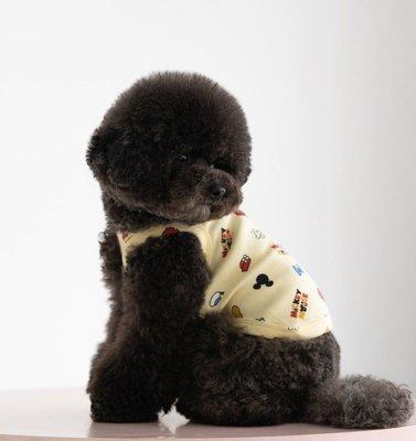 貝果貝果  韓國 DAN  DENTISTS APPOINTMENT 繽紛黃米奇背心 [K1930] 中型犬