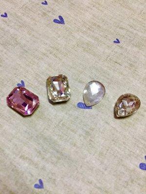 18mm 大方形 大水滴形 造型鑽 DIY素材 奶油殼 貼鑽 袖珍小物 飾品材料 (現貨)