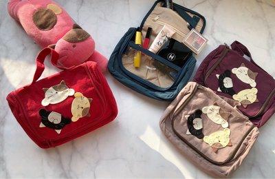 日本卡拉貓~轉圈貓咪內防水化妝包 盥洗包