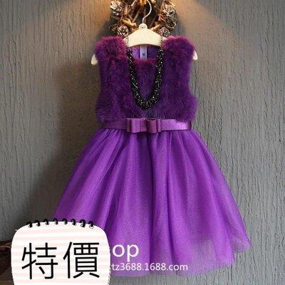 東大門平價鋪  新品女童連衣裙拼接蝴蝶...