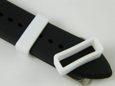 【錶帶家】矽膠錶帶圈固定環錶帶環錶帶固定圈14mm16mm18mm20mm22mm24mm26mm28mm30mm皮帶環