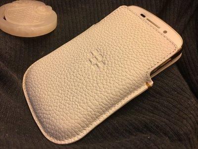 Blackberry Q10 紀念款 白色皮套 原廠全新品